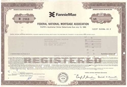 FannieMae Australian Dollar Bond Issued to Shearson Lehman Hutton