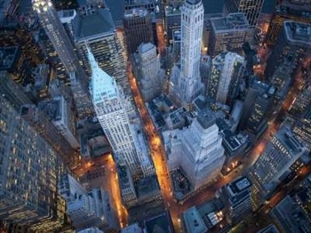 Aerial View of Wall Street Print - Large
