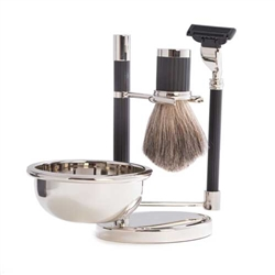 Mach 3 Razor & Pure Badger Brush Shaving Set