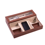 Brown Leather Valet Box