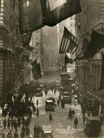 Wall Street Celebration as Germany Surrenders Print - Small