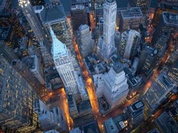 Aerial View of Wall Street Print - Medium