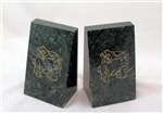 Fighting Bull & Bear Solid Marble Bookends