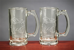 Fighting Bull & Bear Beer Mugs 12.5 Oz - Cool Beer Mugs