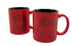 Fighting Bull & Bear Coffee Mugs -Red/Black