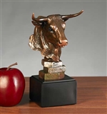 Stock Market Bull Head Statue - Free Next Day Engraving
