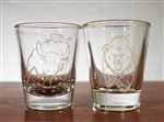 Bull and Bear Shot Glass