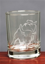 Bull Whiskey Glasses set of 4