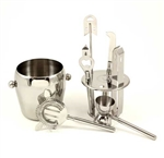 Seven Piece Stainless Bar Accessory Set