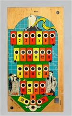 Bally Ticker Tape Bingo Pinball Playfield