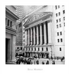 Bull Market Vintage NYSE Photo - Medium