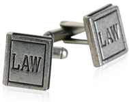 Law Book Pewter Cufflinks