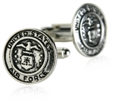 US Air Force Cufflinks Silver USAF