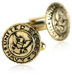 US Navy Cufflinks Gold