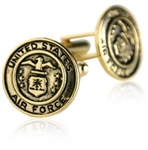 US Air Force Cufflinks Gold USAF