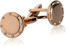 Port Hole Rose Gold Cufflinks