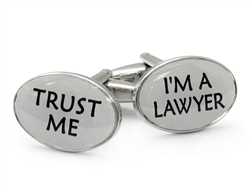 Trust Me Lawyer Cufflinks