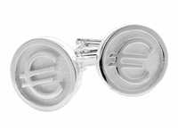 925 Sterling Silver Euro Cuff Links
