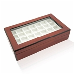 Double Walnut Cufflinks Storage Case