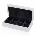 White 8-Pair Cufflinks Storage box
