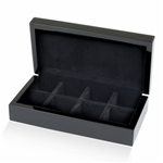 Black 8-Pair Cufflinks Storage box