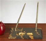 Bull and Bear Pen Stand Desk Set