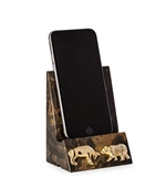 Bull and Bear Phone Cradle - Solid Marble