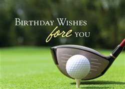 Golf Course Birthday Card