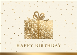Elegant Present Birthday Card - PREMIUM GREETING CARD