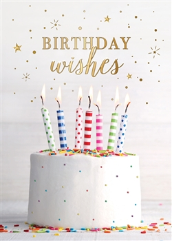 Frosted Cake Birthday Wishes Birthday Card