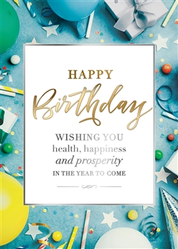 A Year to Celebrate Birthday Card