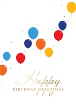 Colorful Balloon Graph Birthday Card - Greeting Card