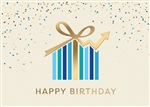 Upward Chart Birthday Card - PREMIUM GREETING CARD