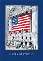 Wall Street Exchange Birthday Card - PREMIUM GREETING CARD