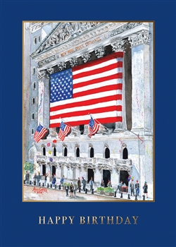 Wall street greeting cards corporate greeting cards wall street exchange birthday card premium greeting card m4hsunfo