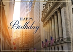 Sunrise on Wall Street Birthday Card - Greeting Card