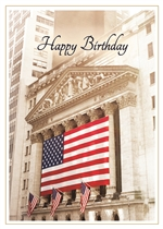 Patriotic Stock Exchange Birthday Card
