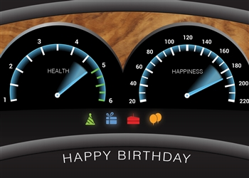 Dashboard Birthday Card