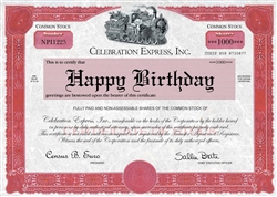 Happy Birthday Celebration Express Card
