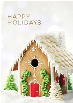 Holiday Gingerbread House Greeting Card