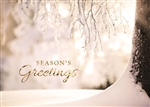 Holiday Icy Winter Scene Season's Greetings Card