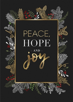 Black & Gold Garland Holiday Card - PREMIUM