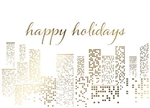 Gold Foil City - Holiday Greeting Card