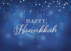 Hanukkah Menorah - Holiday Greeting Card