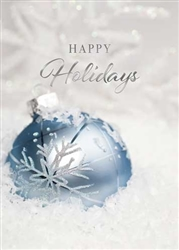 Icy Blue Ornament- Holiday Greeting Card