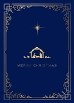 Elegant Gold Foil Nativity Holiday Card - PREMIUM