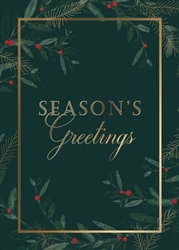 Festive Pine and Berries Holiday Card - PREMIUM