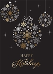 Silver and Gold Foil Ornament - Holiday Greeting Card