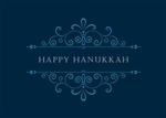 Ornamental Hanukkah Greetings Card