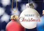 Patriotic Christmas Ornaments Greetings Card